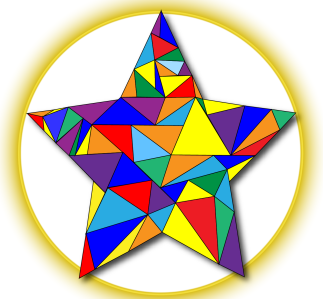 Colourful star-01