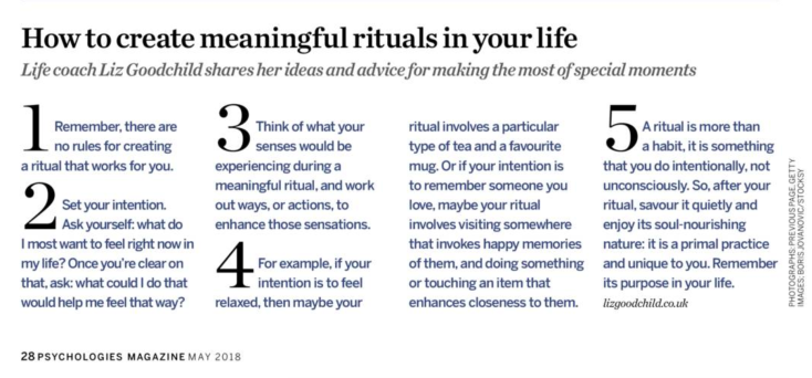 How to create Rituals in Your Life