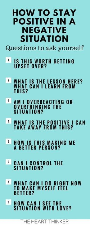 How to stay positive in negative situation