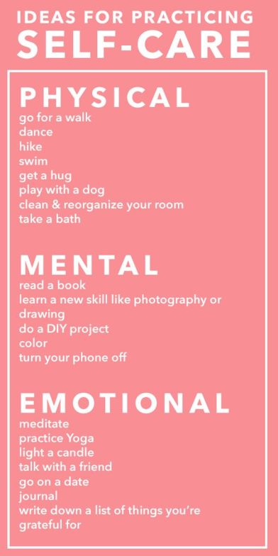 Ideas for practicing self-care